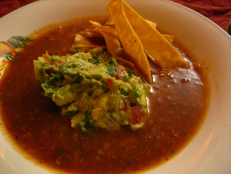 87. Tortilla Soup with Crisp Tortillas and Avocado Relish p.95