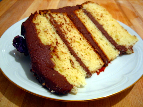 153. Golden Cake with Chocolate-Sour Cream Frosting p.725 – Gourmet ...