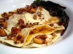 147. Butternut Squash, Sage, and Goat Cheese Ravioli with Hazlenut-Brown Butter Sauce p.236